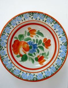 Hungarian Wall Plate from Kalotaszeg, Romania