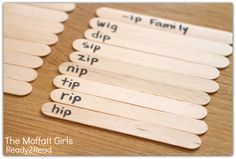 Word Family WORD SORTS with popsicle sticks! EASY AND FUN!
