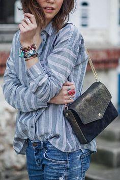 chemise rayée femme, comment porter son chemisier rayé