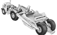 Developed from its Caterpillar's first motor scraper, the featured several improvements over the former model. By Richard Campbell The initial production model was the series)… Heavy Construction Equipment, Heavy Equipment, Earth Moving Equipment, Caterpillar Equipment, Cat Machines, Allis Chalmers Tractors, Crawler Tractor, Mining Equipment, Antique Tractors