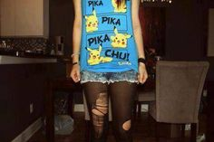 my weekend outfit. Pokemon, Pikachu, Tank Top Shirt, Tank Tops, T Shirt, Crop Tops, Weekend Outfit, Country Outfits, Tumblr Girls