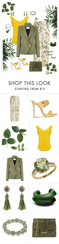 """""""Flora and the fauna"""" by papillon825 ❤ liked on Polyvore featuring Alexander McQueen, Giuseppe Zanotti, BA&SH, Pierre Balmain, Effy Jewelry, WithChic, Vanda Jacintho, Maggy London, Tuscany Leather and botanicalprint"""
