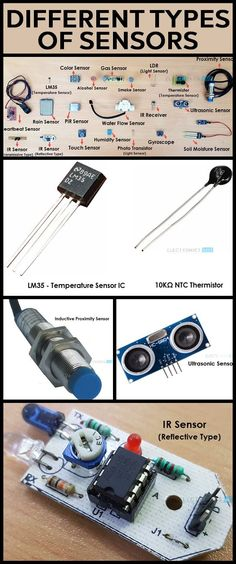 Different Types of Sensors - Arduino - Technology Electronics Projects, Hobby Electronics, Electronics Components, Electronics Gadgets, Electronic Engineering, Electrical Engineering, Electronic Parts, Robotics Engineering, Mechanical Engineering