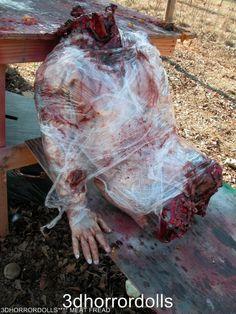Meat fred male torso halloween film prop gross by 3dhorrordolls, via Etsy.