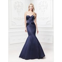 Solid Neoprene Flared Gown by Zac Posen Moda Operandi $4,200.00 ❤ liked on Polyvore featuring dresses, gowns, white ball gowns, white flared dress, zac posen dresses, white flare dress and white evening dresses
