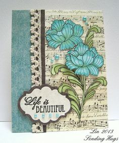 Life is Beautiful by bearpaw - Cards and Paper Crafts at Splitcoaststampers