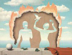 René Magritte, Mesdemoiselles de l'Isle Adam (1942).