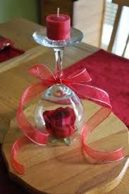 wine glass centerpiece red - Google Search
