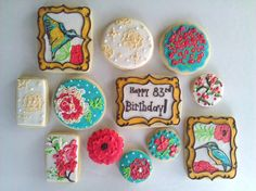 Garden love inspired cookies.  www.facebook.com/amber.icing.cake  My very talented friend Amber makes these! :)