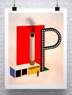 Man As Industrial Palace Vintage German Poster Canvas Giclee Print 17x30 in.