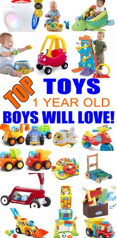 Top Toys For 1 Year Old Boys! Best toy suggestions for gifts & presents for a boys first birthday, Christmas or just because. Find the best gifts and toys for a boys 1st bday or Christmas. Find award winning, parent choice and learning toys. Get the best toys and gift ideas now!