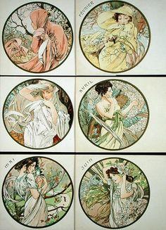 Alphonse Mucha - The Months