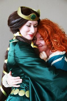 """Legends are Lessons - Merida and Queen Elinor by madelyngrace.deviantart.com on @deviantART - From """"Brave"""", uploaded by the former"""