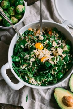 Spinach & Orzo Pasta Salad