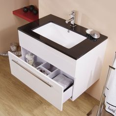 View the Eden 75 Wall Mounted Vanity Unit. Finance options & free delivery available, shop now! Bathroom Sets, Bathroom Storage, Modern Classic Bathrooms, Amazing Bathrooms, Better Bathrooms, Wall Mounted Vanity, Vanity Units, Bed Plans, Storage Drawers