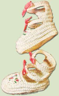 Best Free Crochet » Roman Baby Sandals Free Crochet Pattern