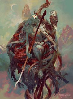 """ Sariel, Angel of the Waning Moon – fantasy concept by Peter Mohrbacher """