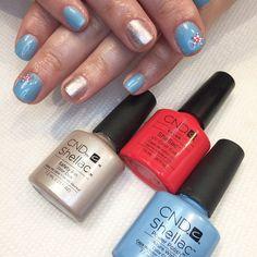 Cnd azure wish safety pin. Cape cod. Summer nails. Starfish nails.