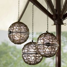 Set of 2 Solar Mood Lights from Through the Country Door®