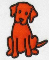Puppy Dog Applique Embroidery Design.