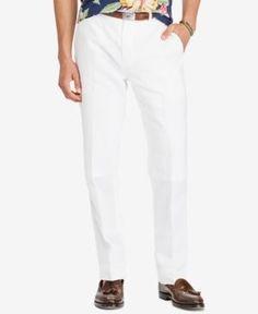 Polo Ralph Lauren Men's Classic-Fit Pants - White 34x30