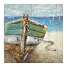 Beached Boat Wooden Art Print | Kirklands