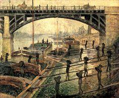 1875-CÉZANNE - Los descargadores de carbón