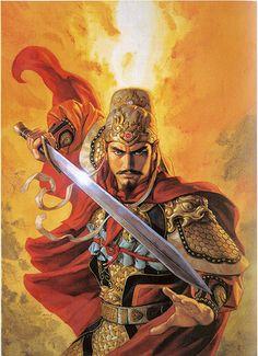 Fantasy Heroes, Fantasy Warrior, Fantasy Characters, Fantasy Art, Guan Yu, Japan Tattoo, Dynasty Warriors, Armor Concept, Medieval Armor
