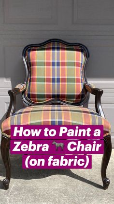 Painting Fabric Furniture, Funky Painted Furniture, Furniture Painting Techniques, Chalk Paint Furniture, Colorful Furniture, Fabric Painting, Furniture Refinishing, Diy Furniture Projects, Furniture Decor