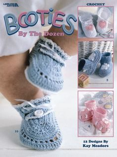Stay-on knit and crochet baby booties free patterns « KnitnScribble