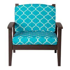 Outdoor Cushions-Madeira Blue Print