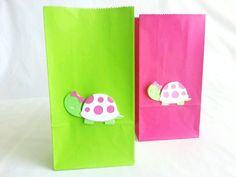 12 count Turtle Party bags  Happy Birthday turtle by JazzyBug, $19.99