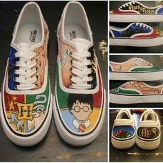 Harry Potter shoes - custom hand painted - hogswart - visit www.facebook.com/loveleyni to order yours in ANY theme