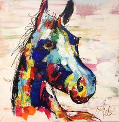Kleurrijk paard - Portfolio
