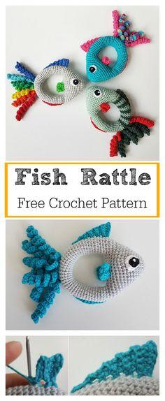 Soft Fish Rattle Toy Free Crochet Pattern #freecrochetpatterns #toys