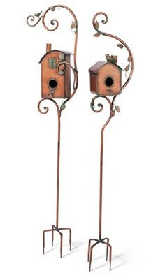 Keep your birds warm all winter long with beautiful bird houses that double as garden decor!