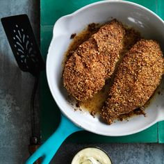 Pecan-Crusted Chicken with Mustard Sauce | 27 Truly Divine Incarnations Of Fried Chicken