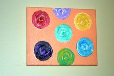 Colorful Circles Abstract Acrylic Painting by PAINTSandDOODLES, $36.00