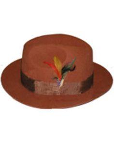 Hombres Intocable Cobre Ladrillo Sombrero Mens Derby Hats 4849b09f4e5