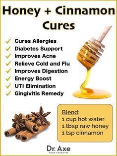 Honey and Cinnamon Benefits and Natural Cures draxe.com/... #health #DIY