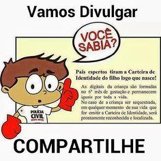 RG INFANTIL - http://prosademae.blog.br/primeira-carteira-de-identidade/