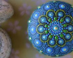 Japanese Wood - Pebble, Mandala, dot art, Liona Hotta .