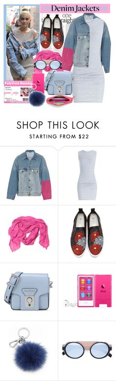"""""""Denim Trend: Jean Jackets"""" by goreti ❤ liked on Polyvore featuring Off-White, James Perse, Love Quotes Scarves, MSGM, Karl Lagerfeld, Mykita, TrickyTrend and jeanjackets"""