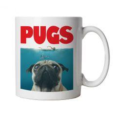Pugs Mug - Funny Pug Dog Jaws Parody