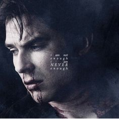 The Vampire Diaries. you're MORE than enough Damon ❤️❤️ Vampire Diaries Memes, Vampire Diaries Damon, Vampire Diaries The Originals, Vampire Diaries Poster, Ian Somerhalder Vampire Diaries, Vampire Diaries Wallpaper, Stefan Salvatore, Damon Salvatore Quotes, Damon Quotes