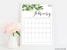 2021 Calendar Watercolour Calendar 2021 Botanical Wall | Etsy Calendar 2019 Printable, Print Calendar, 2019 Calendar, Corporate Office Decor, Office Calendar, Pink Office, Calendar Organization, Floral Wall, Wall Calendars