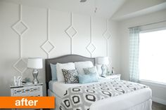 Before & After: A Cheap, Quick DIY Wall Treatment Idea for Renters