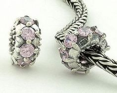 7d8a76bed 1pc 925 Sterling Silver Charms Purple Crystal Beads Compatible with Pandora  Chamilia Kay Troll European Bracelets