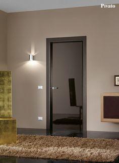 Porte interne in legno laccato spazzolato grigio tortora ...