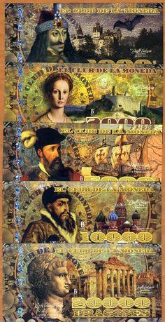 Polymer Set El Club de La Moneda 1000 2000 5000 10000 20000 2014 Evil Rulers | eBay